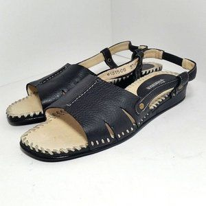 Ros Hommerson Leather Sandals Black Size 5.5